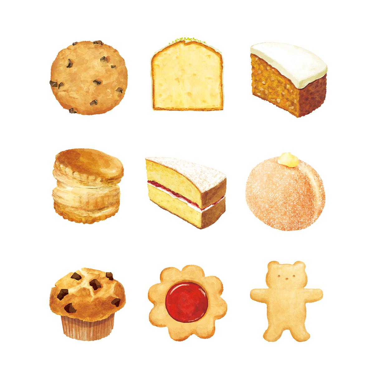 福岡麻利子イラスト作品